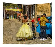 Cuba Wedding Party Tapestry