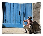Cuban Man And His Cigar Tapestry