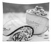 Cucumber Rolls Black And White Tapestry