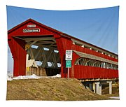 Culbertson Or Treacle Creek Covered Bridge Tapestry