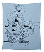 Cup Cake - Doodle Tapestry