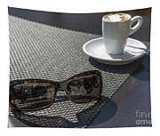 Cup Of Coffee And Sunglasses Tapestry