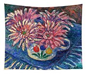 Cup Of Flowers Tapestry