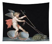Cupid Being Led By Tortoises Tapestry