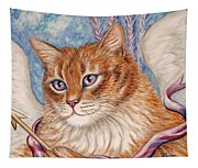 Cupid Kitty Tapestry