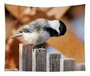 Curious Chickadee Tapestry