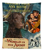 Curly Coated Retriever Art - The World In His Arms Movie Poster Tapestry