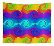 Curly Q 2 Tapestry