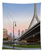 Custom House And Zakim Bridge Tapestry