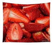 Cut Strawberries Tapestry