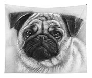 Cute Pug Tapestry