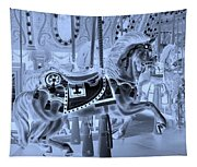 Cyan Horse Tapestry