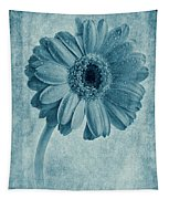 Cyanotype Gerbera Hybrida With Textures Tapestry