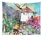 Cycling In The Mountains Of Gran Canaria Tapestry