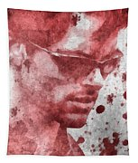 Cyclops X Men Paint Splatter Tapestry