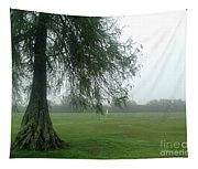 Cypress In The Mist Tapestry