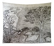 Cypresses In Cyprus Tapestry