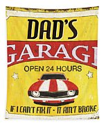 Dad's Garage Tapestry by Debbie DeWitt