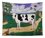 Dad's Prize Milk Cow Tapestry