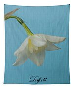 Daffodil On Blue 1 Tapestry