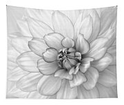 Dahlia Flower Black And White Tapestry