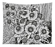 Daisies In Relief Tapestry