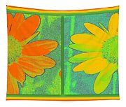 Daisy Collage Yellow Orange Tapestry