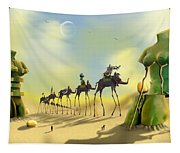 Dali On The Move  Tapestry