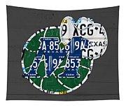 Dallas Mavericks Basketball Team Retro Logo Vintage Recycled Texas License Plate Art Tapestry