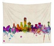 Dallas Texas Skyline Tapestry