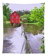 Dam At Starrs Mill Tapestry