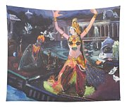 Dancer Laxmi Dancing On The Boat Tapestry