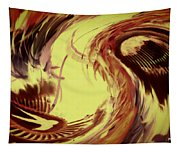Dancing Headdress Abstract Tapestry