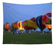Dancing In The Moonlight Hot Air Balloons Tapestry