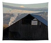 Dark Barn And Mt Mclaughlin Tapestry