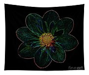Dark Flower 2 Tapestry