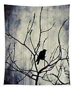 Crow In Dark Lights Tapestry