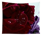 Dark Red Rose Tapestry