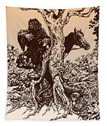 Dark Rider-tolkien Appreciation Tapestry