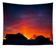 Dark Sunset Tapestry
