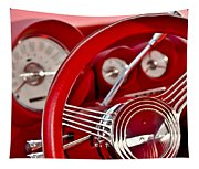 Dashboard Red Classic Car Tapestry