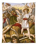 David Slaying Goliath Tapestry