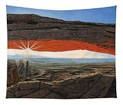 Dawn At Mesa Arch Canyonlands Utah Tapestry
