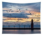 Dawn's Early Flight Tapestry