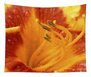 Day Lily In The Rain - 688 Tapestry