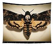 Deaths Head Hawk Moth Framed Version Tapestry