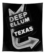 Deep Ellum Black And White Tapestry