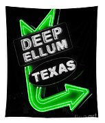 Deep Ellum In Green Tapestry