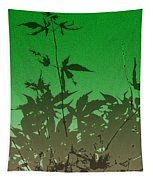 Deep Green Haiku Tapestry