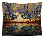 Deep Pond Reflections Tapestry